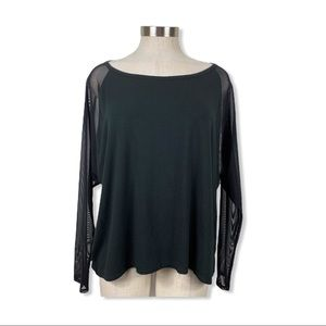 ⭐️Threads 4 Thought Black Sheer Long Sleeve Top